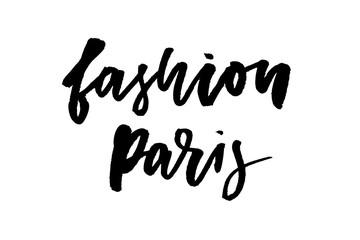 slogan Fashion Paris phrase graphic vector Print Fashion lettering calligraphy