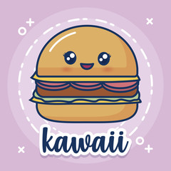 kawaii hamburger icon
