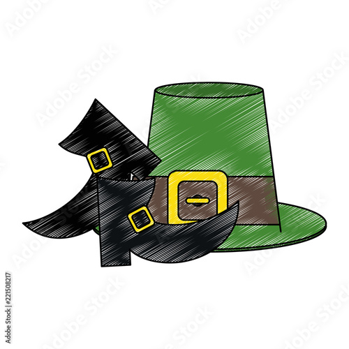 cd5962b2714 Irish elf hat and shoes scribble