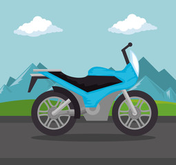 motorcycle vehicle in the road scene
