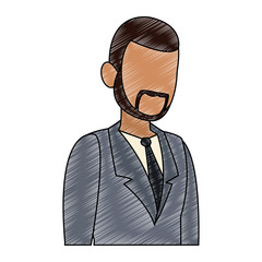 Businessman avatar cartoon scribble