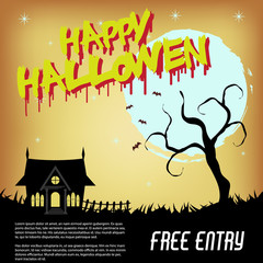 Halloween Design Set Flyer, Background design