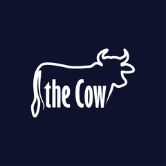 The Cow text logotype vector template
