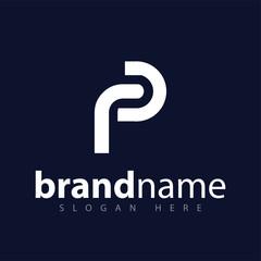 P letter logo icon vector template