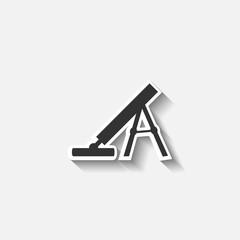 army mortar vector icon