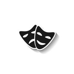 Theater icon. sad and happy masks