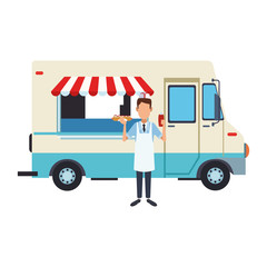 Food truck and owner
