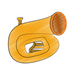 Sousaphone music instrument scribble