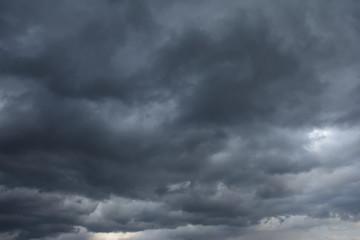 Dark gray cloudy sky background