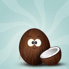 illustration of coconut icon