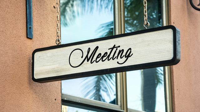 Schild 341 - Meeting