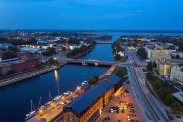 Summer night in Liepaja, Latvia.