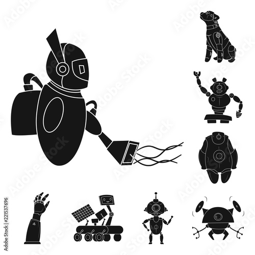 Vector Design Of Robot And Factory Icon Collection Of Robot And