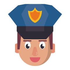 Police face cartoon
