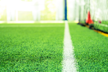 Boundary Line of an indoor football soccer training field