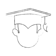student graduated head avatar character