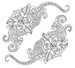 Floral ornament in the style of mehendi
