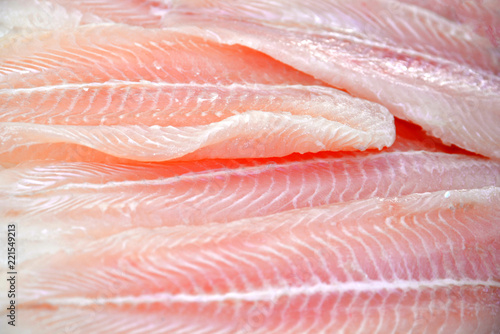 Fresh salmon fillet on ice, the concept of healthy nutrition