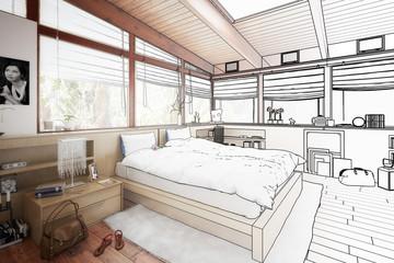 Schlafzimmer im Patio (Entwurf)