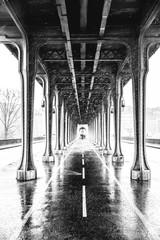 Pont de Bir-Hakeim in snow, Paris