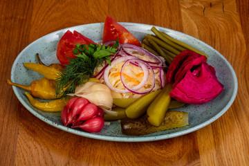 Georgian pickled vegetables
