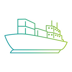 cargo ship isolated icon