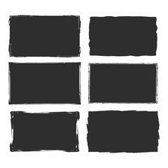Rectangular grunge vector background.