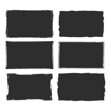 Rectangular grunge vector background.