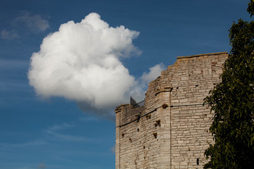cloud over ruin