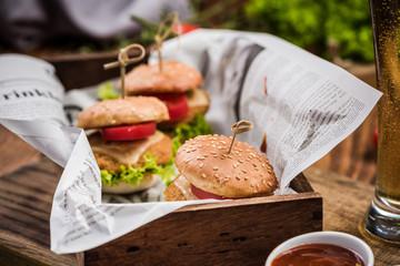 Pub food, bbq burgers and beer