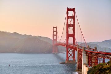 Photo sur Plexiglas San Francisco Golden Gate Bridge at sunset, San Francisco, California