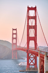Foto auf AluDibond San Francisco Golden Gate Bridge at sunset, San Francisco, California