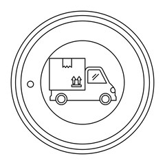 delivery service truck seal stamp