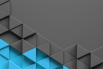 Abstract grey blue triangle pattern background