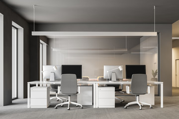 Modern office interior with boardroom