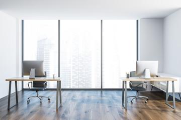 Loft minimalistic office interior, corporation