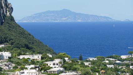 Island of Ischia view from Capri centro