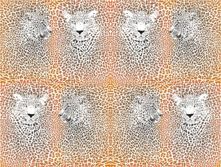 Leopard texture pattern with head