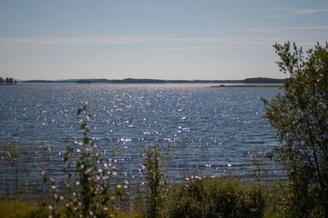 Blick über den See Vanjan in Schweden
