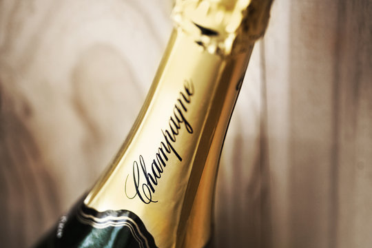 Close up of French Champagne