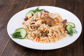 Traditional asian pilaf