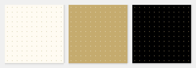 Autocollant pour porte Artificiel Pattern seamless dot abstract background gold luxury color geometric vector.