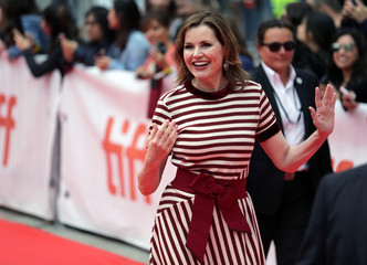 Actor Geena Davis arrives for the premiere of This Changes Everything during the Toronto International Film Festival (TIFF) in Toronto