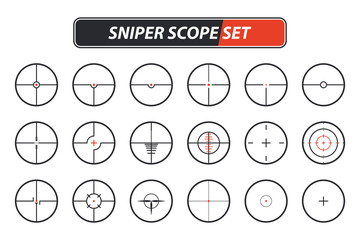 Set of different sniper scope icons