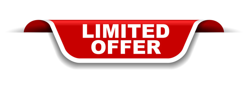 red and white banner limited offer