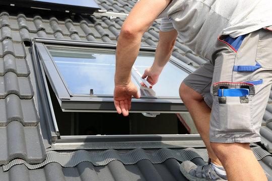 Einbau eines Dachfensters