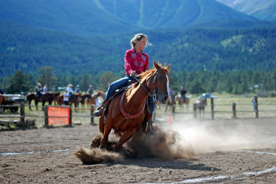 Cowgirl at Mountain Rodeo