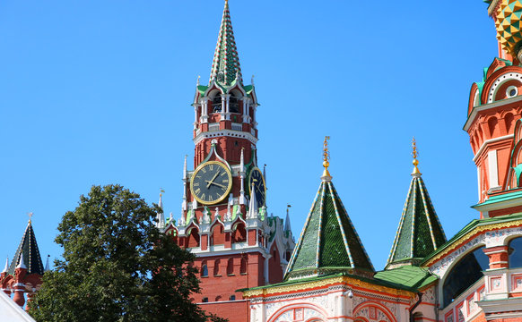 Red Square. The Kremlin Tower
