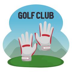 golf sport club with gloves