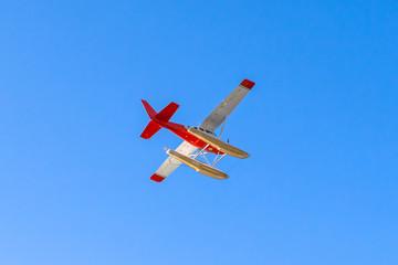 Hydroplane in sky